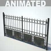 Gate & fence_01 3d model
