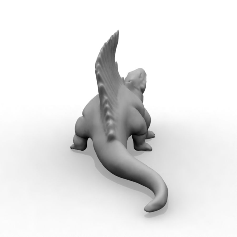 Metriacanthosauras royalty-free 3d model - Preview no. 5