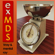 Kitchen Scales (vray & mr) 3d model