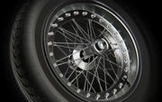 Spoked Wheel Rim Tire 3d model