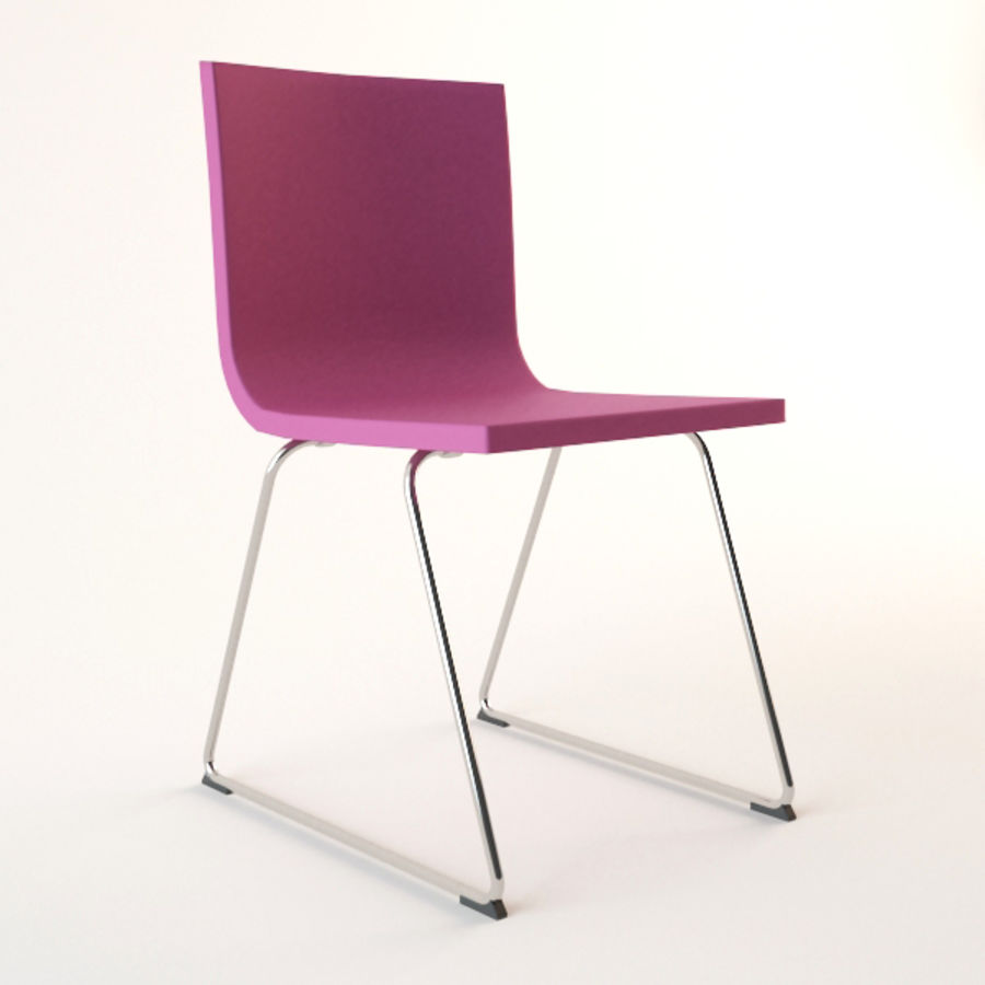 IKEA Bernhard Chair Royalty Free 3d Model   Preview No. 1