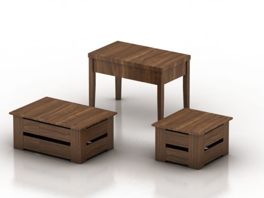 Wood Furniture Collection royalty-free 3d model - Preview no. 12