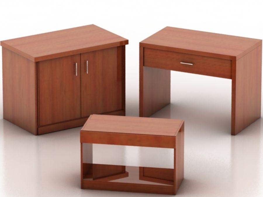 Wood Furniture Collection royalty-free 3d model - Preview no. 13
