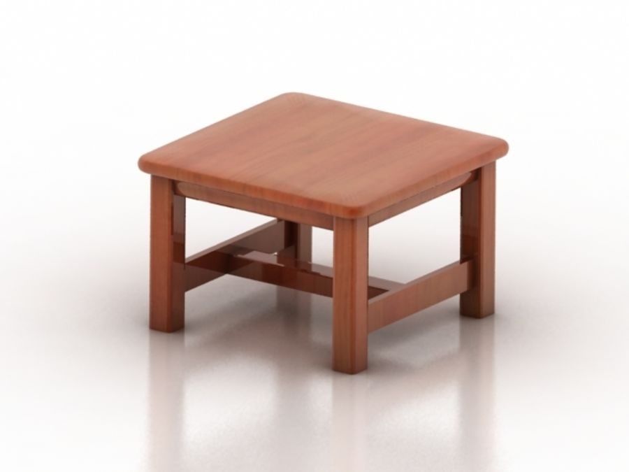 Wood Furniture Collection royalty-free 3d model - Preview no. 4