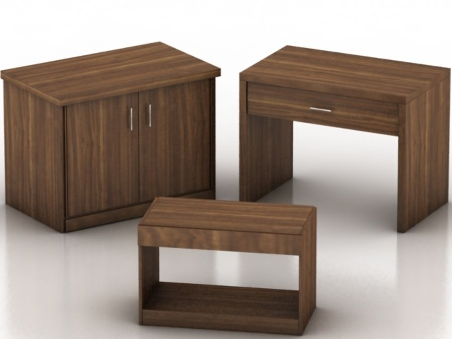 Wood Furniture Collection royalty-free 3d model - Preview no. 15