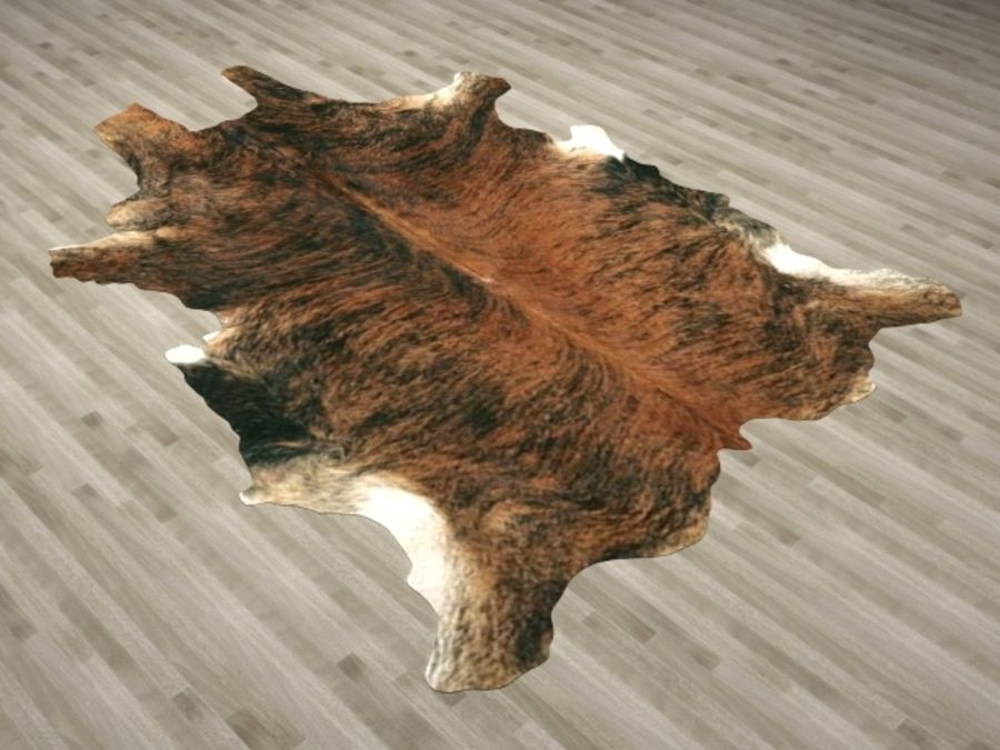 Animal Skin Rug N2 royalty-free 3d model - Preview no. 3
