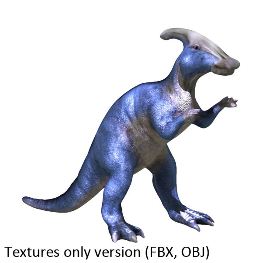 Parasaurophus royalty-free 3d model - Preview no. 3