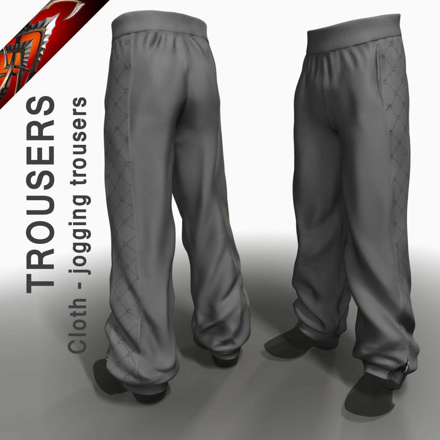 Cloth Jogging Trousers 3D Model $20 -  max  3ds  obj  fbx  dxf  c4d