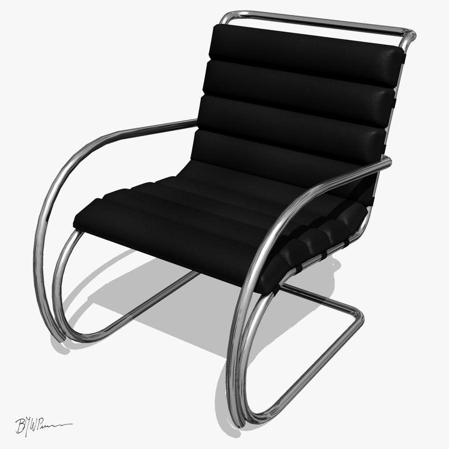 MR stol och MR stol med armar royalty-free 3d model - Preview no. 1