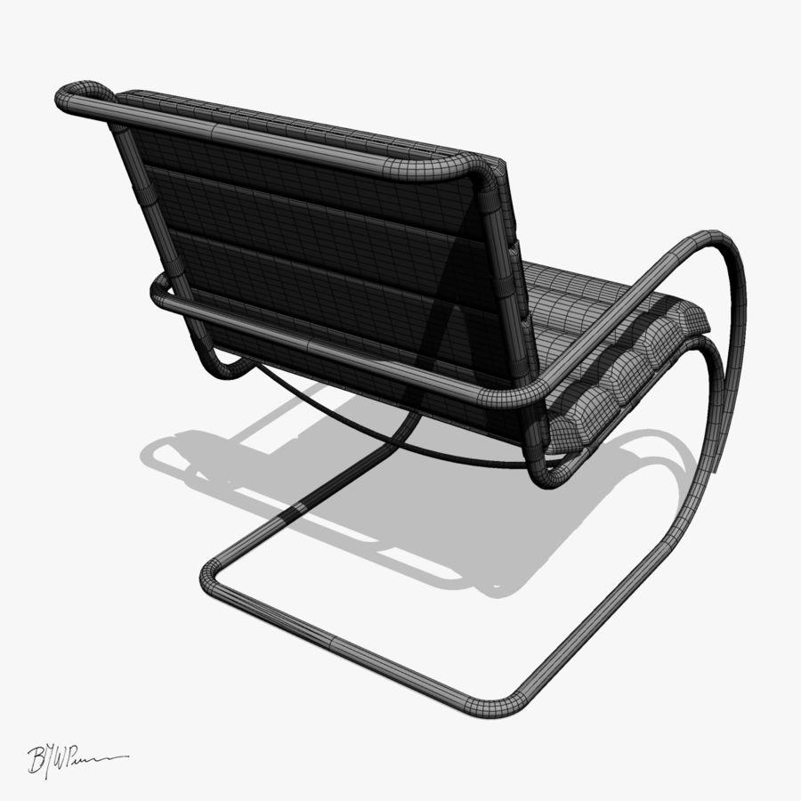 MR stol och MR stol med armar royalty-free 3d model - Preview no. 4