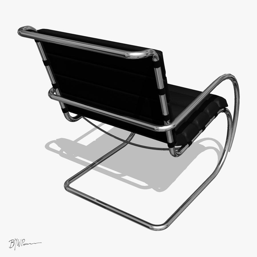 MR stol och MR stol med armar royalty-free 3d model - Preview no. 3