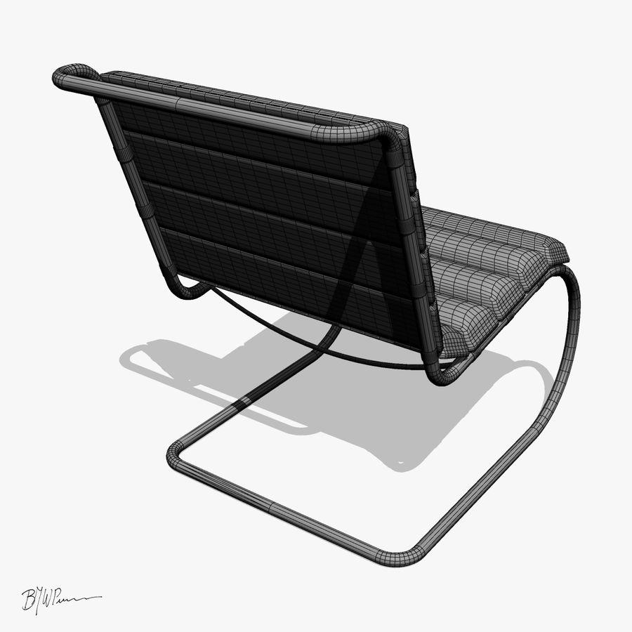 MR stol och MR stol med armar royalty-free 3d model - Preview no. 8
