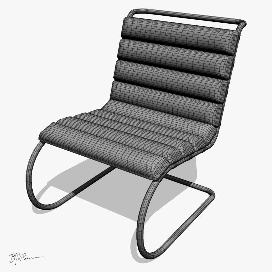 MR stol och MR stol med armar royalty-free 3d model - Preview no. 6