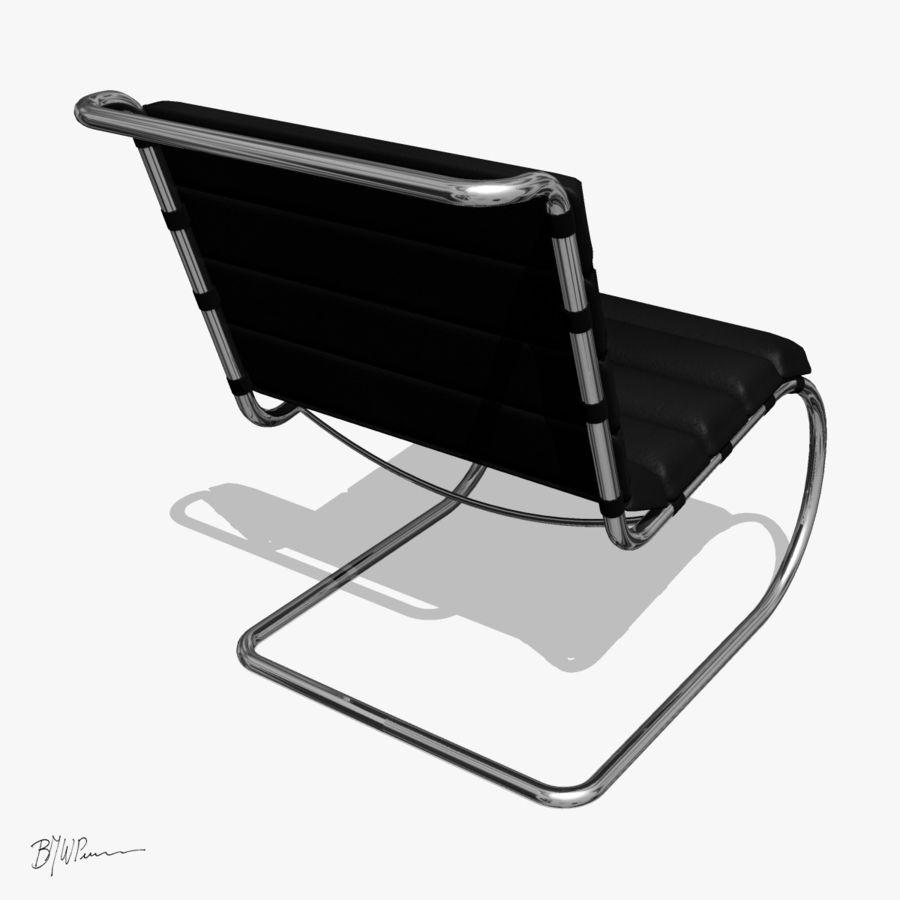 MR stol och MR stol med armar royalty-free 3d model - Preview no. 7