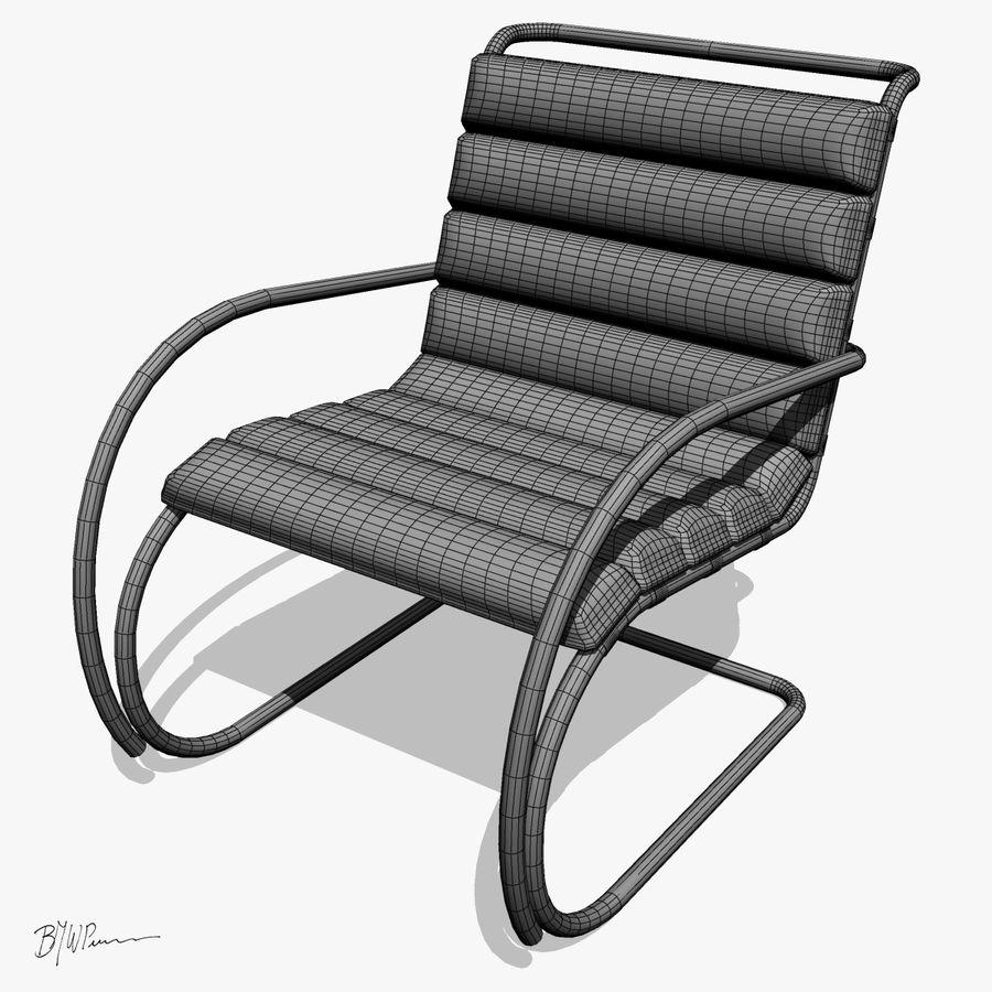 MR stol och MR stol med armar royalty-free 3d model - Preview no. 2
