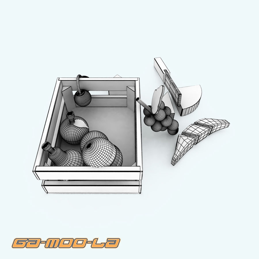 TOY_fruit_basket.zip royalty-free 3d model - Preview no. 5