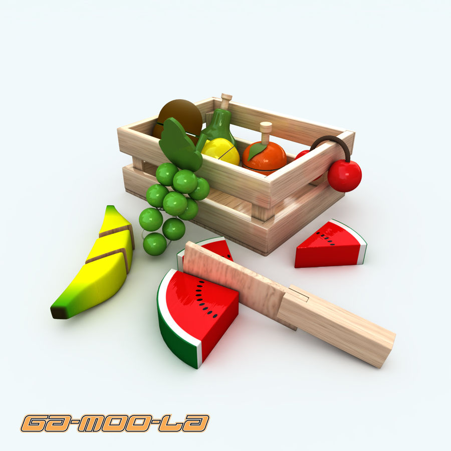 TOY_fruit_basket.zip royalty-free 3d model - Preview no. 1