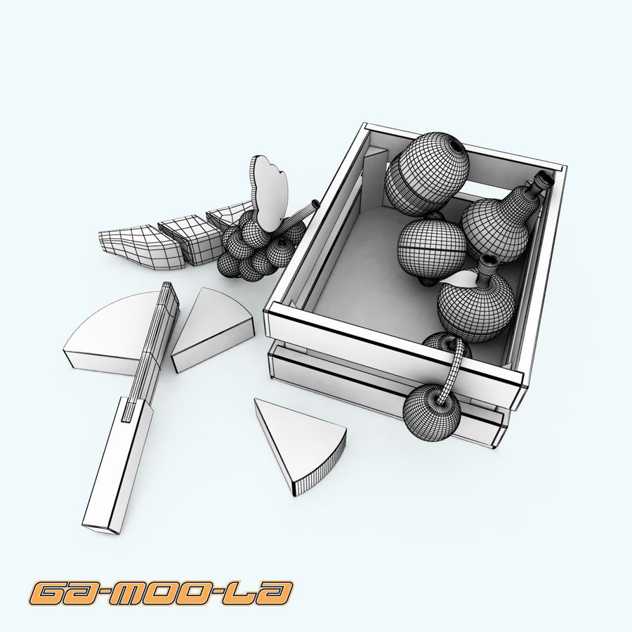 TOY_fruit_basket.zip royalty-free 3d model - Preview no. 6