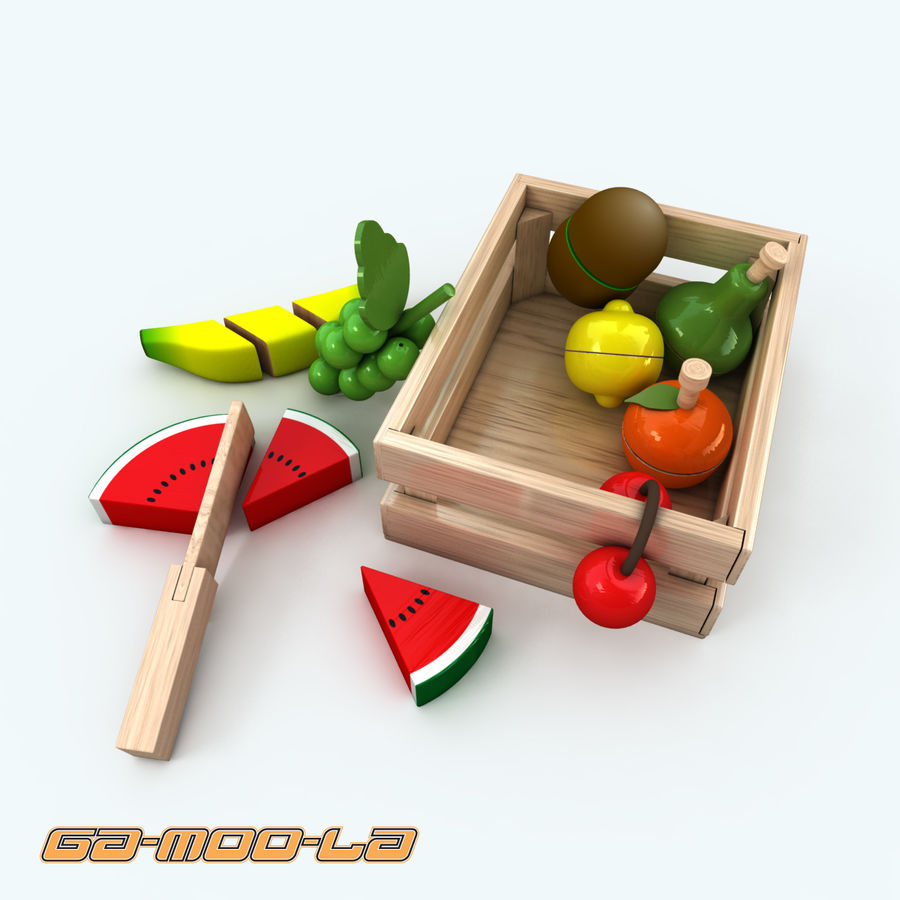 TOY_fruit_basket.zip royalty-free 3d model - Preview no. 3