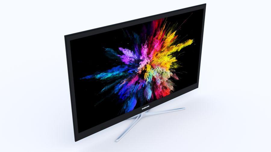 Telewizor z płaskim ekranem royalty-free 3d model - Preview no. 2