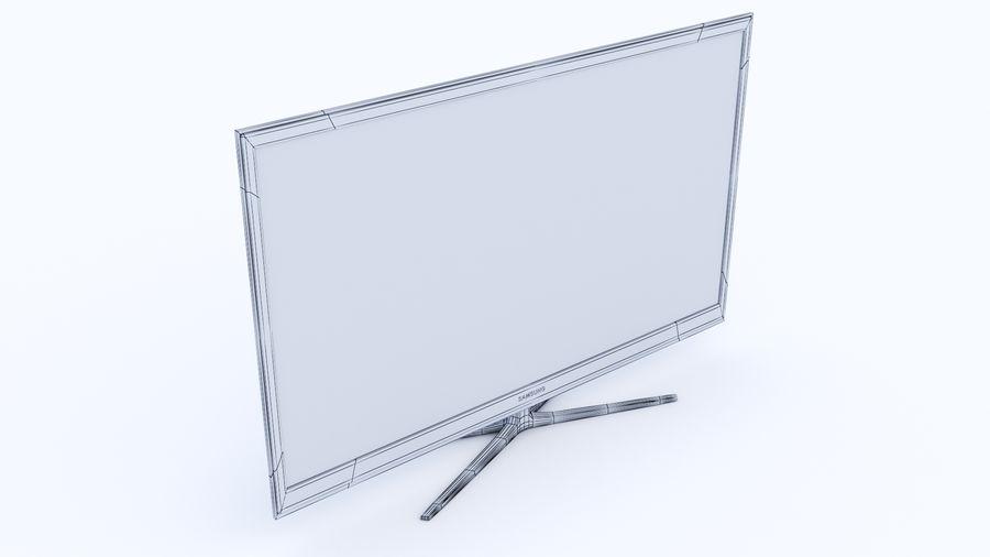 Telewizor z płaskim ekranem royalty-free 3d model - Preview no. 3