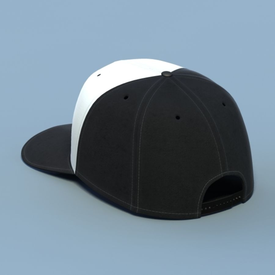 Baseball cap #02 royalty-free 3d model - Preview no. 3