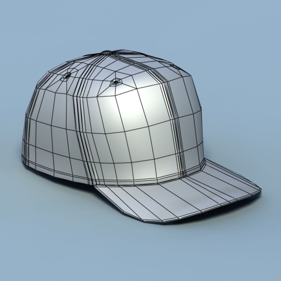 Baseball cap #02 royalty-free 3d model - Preview no. 8