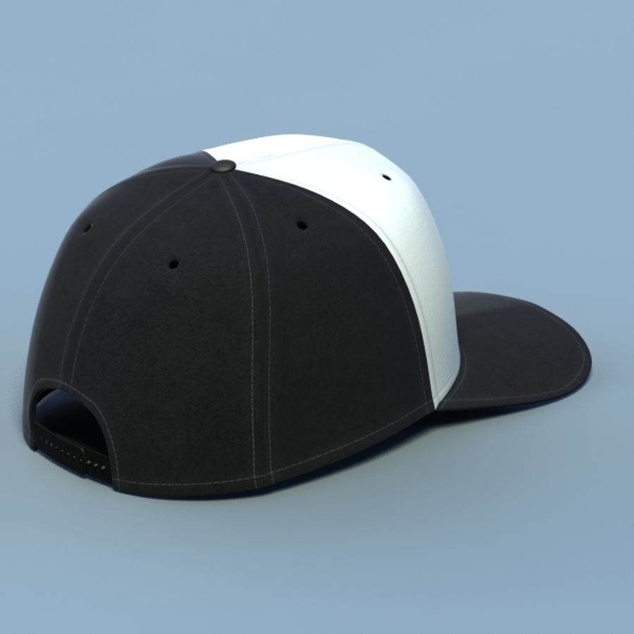 Baseball cap #02 royalty-free 3d model - Preview no. 2