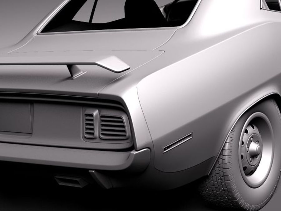 Plymouth Hemi Cuda - Barracuda 1971 royalty-free 3d model - Preview no. 12