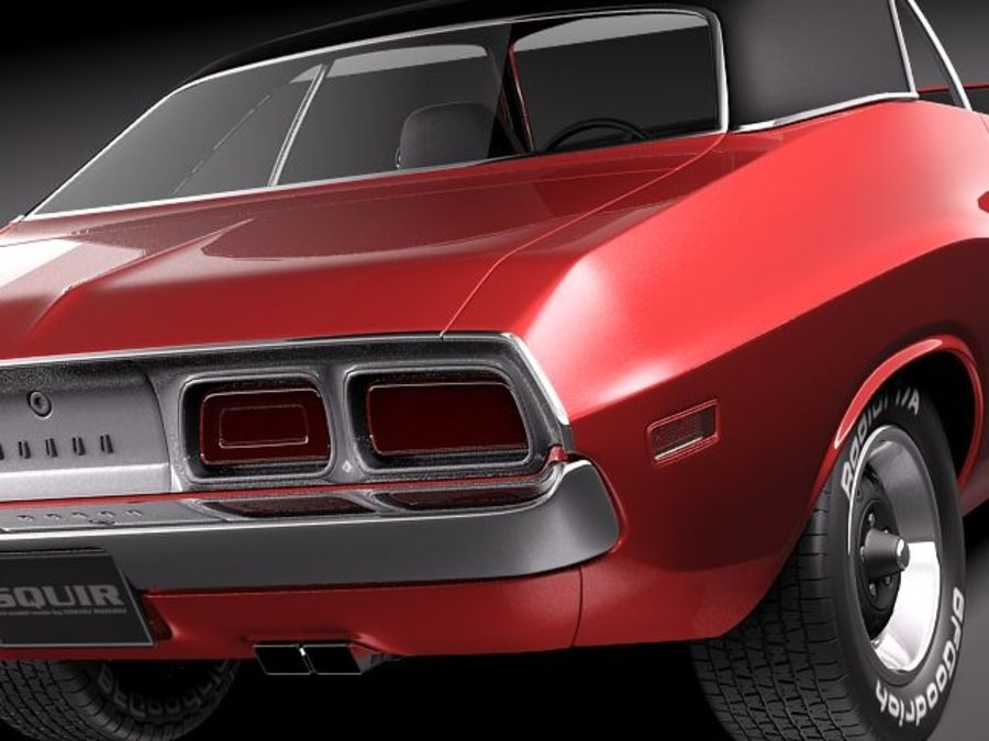 Dodge Challenger 1972-1974 royalty-free 3d model - Preview no. 4