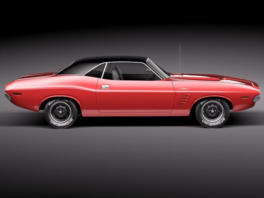 Dodge Challenger 1972-1974 royalty-free 3d model - Preview no. 7