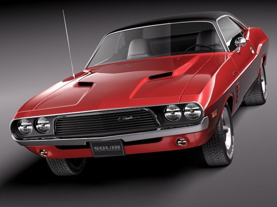 Dodge Challenger 1972-1974 royalty-free 3d model - Preview no. 2
