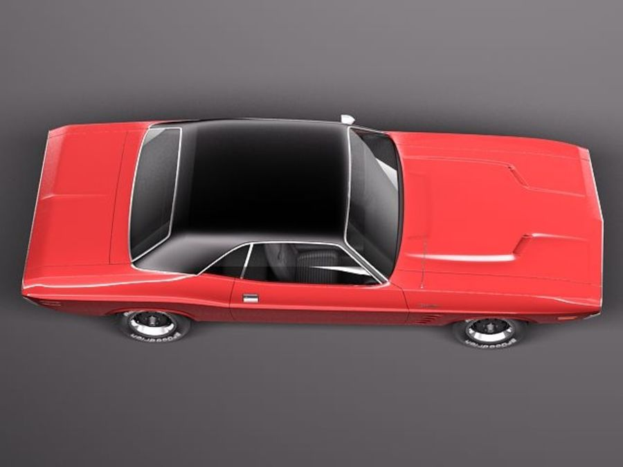 Dodge Challenger 1972-1974 royalty-free 3d model - Preview no. 8