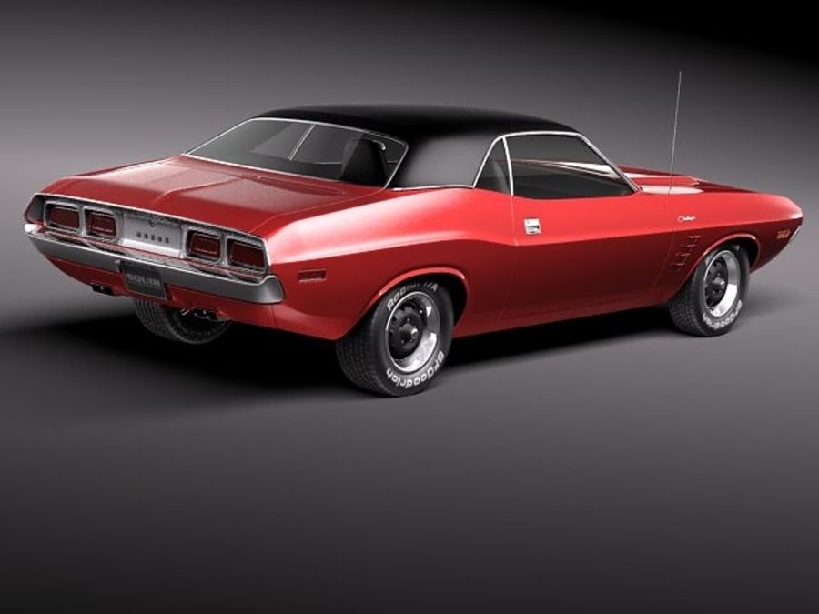 Dodge Challenger 1972-1974 royalty-free 3d model - Preview no. 6