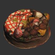 Mushroom Basket Cake 3d model