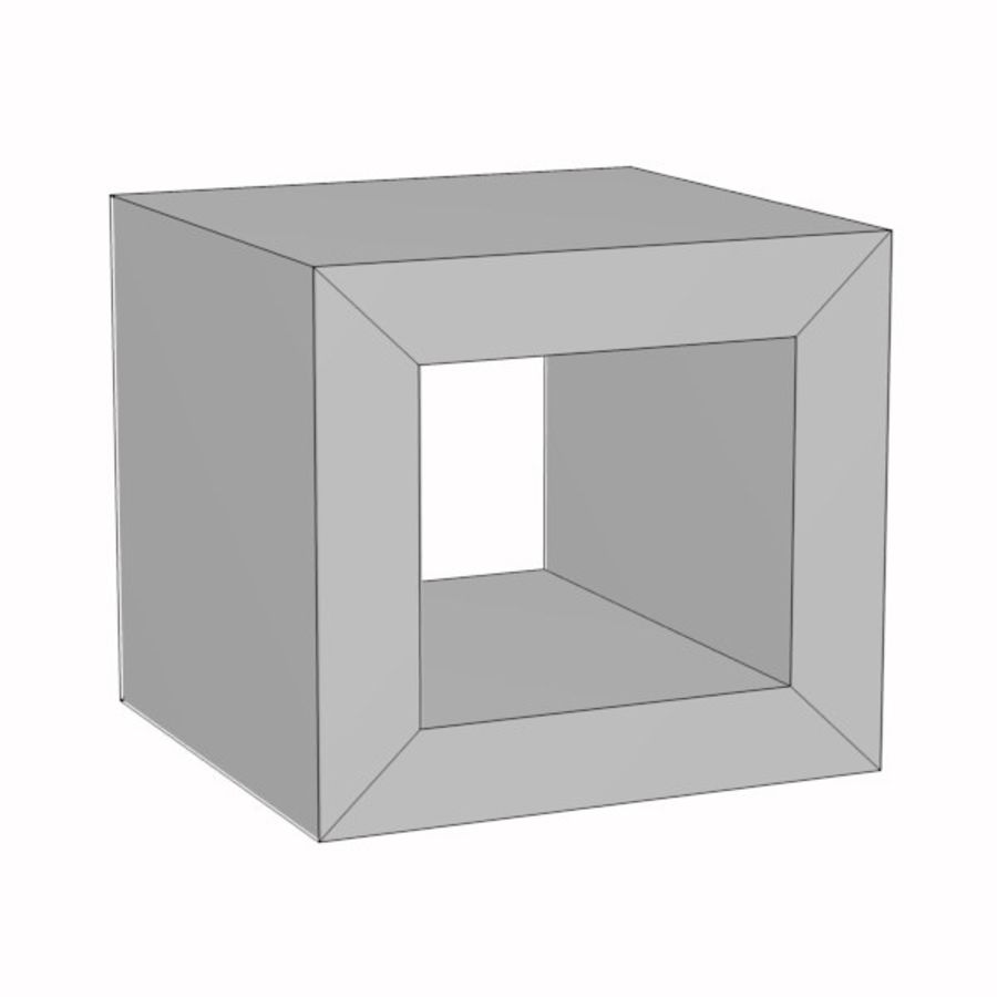 coffee table18 royalty-free 3d model - Preview no. 3