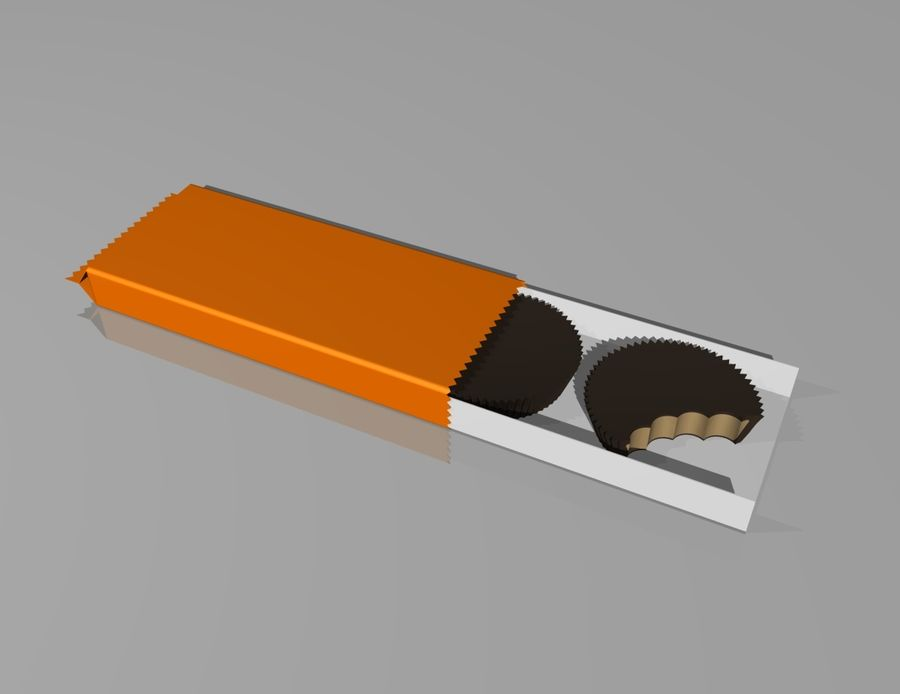 peanut butter cups royalty-free 3d model - Preview no. 2