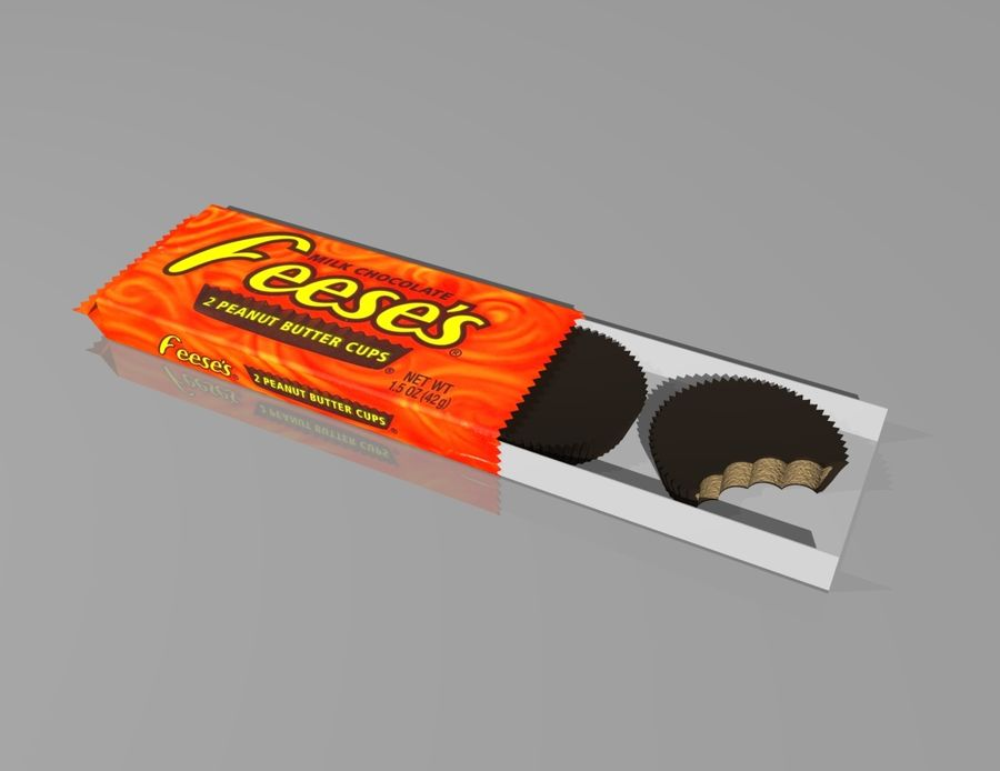 peanut butter cups royalty-free 3d model - Preview no. 1