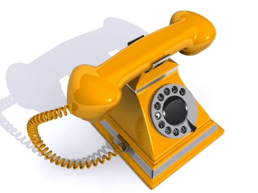 Téléphone rétro royalty-free 3d model - Preview no. 4