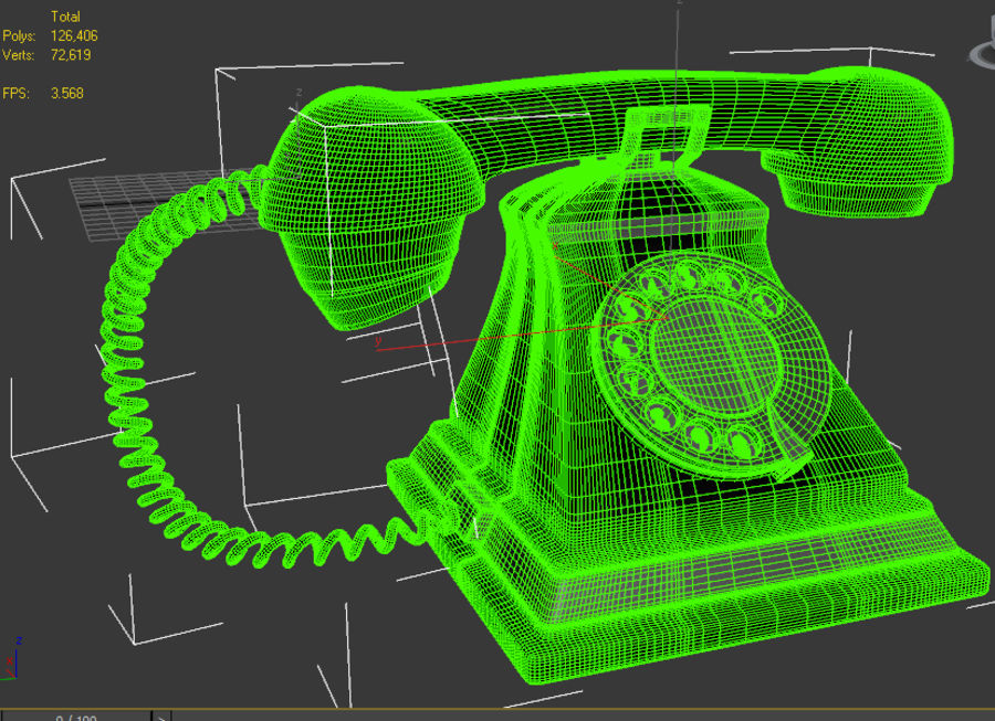 Téléphone rétro royalty-free 3d model - Preview no. 7