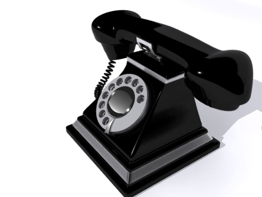 Téléphone rétro royalty-free 3d model - Preview no. 2