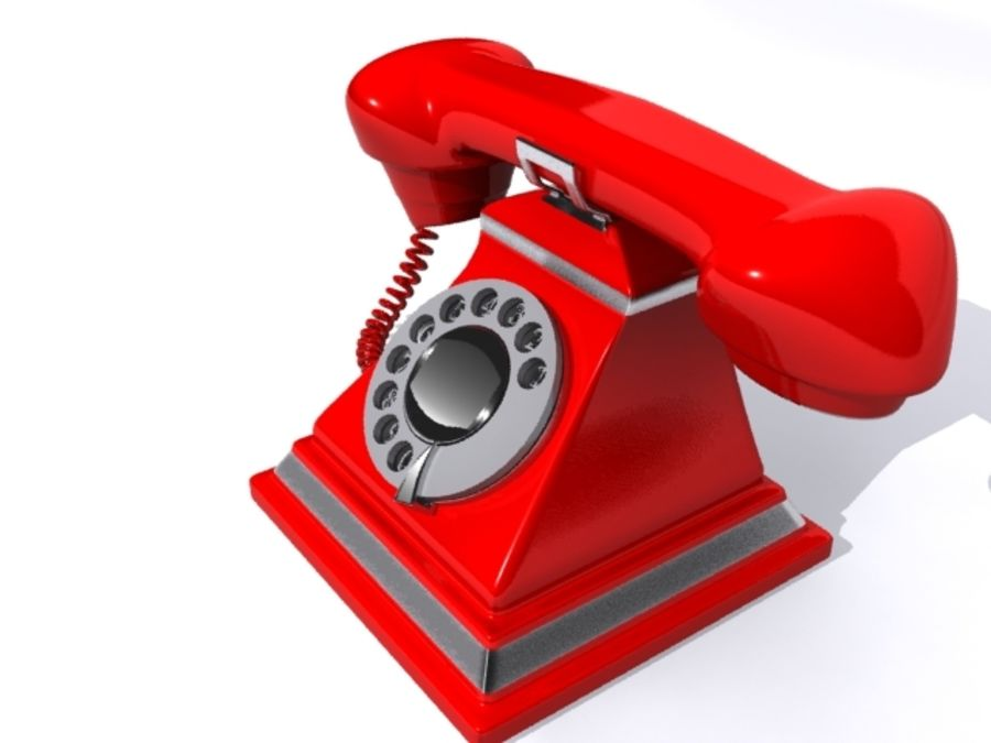 Téléphone rétro royalty-free 3d model - Preview no. 3