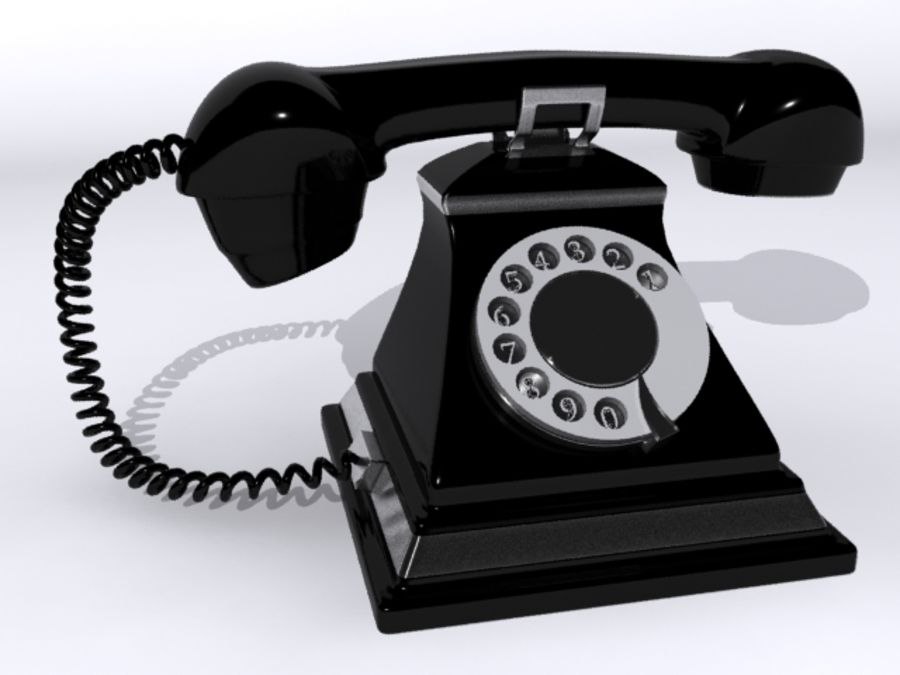 Téléphone rétro royalty-free 3d model - Preview no. 5