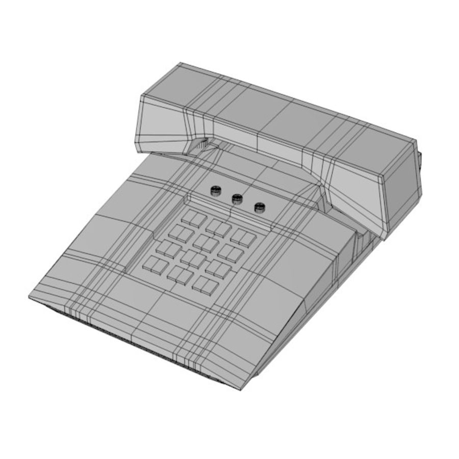 telephone royalty-free 3d model - Preview no. 4