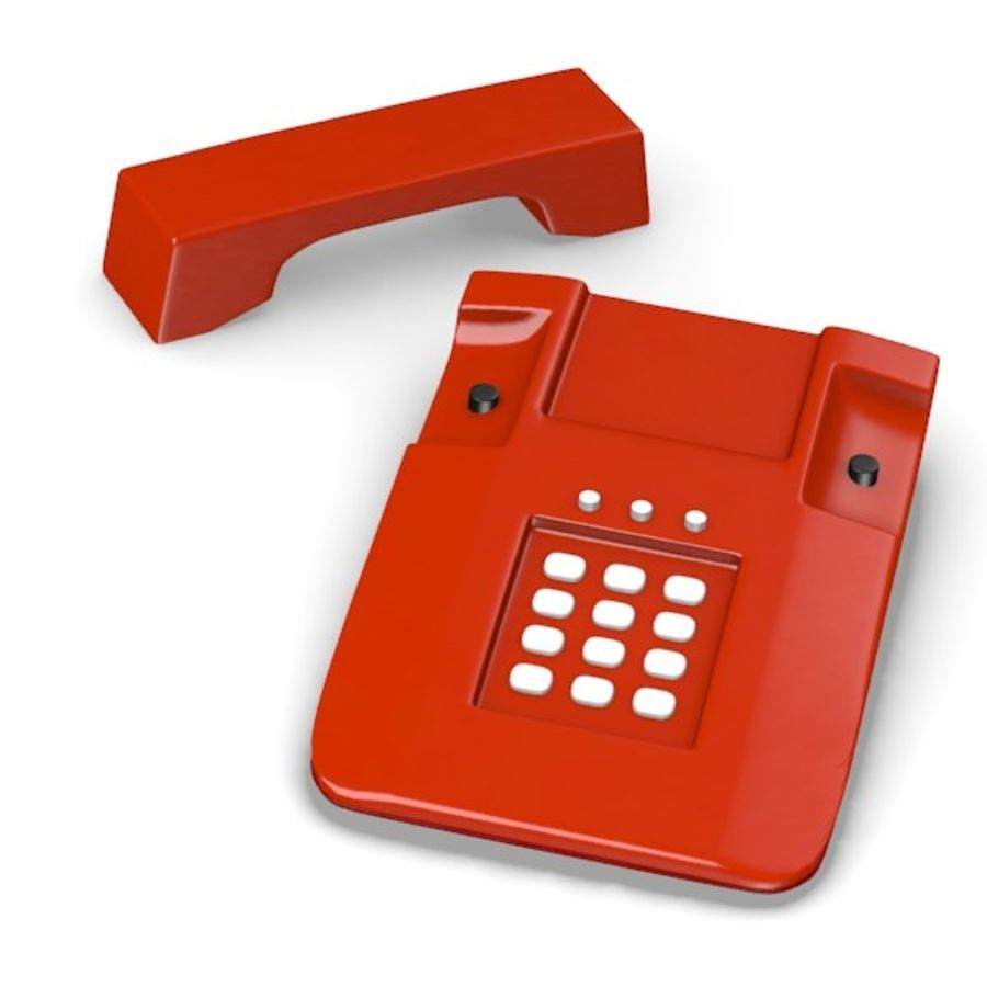 telephone royalty-free 3d model - Preview no. 2