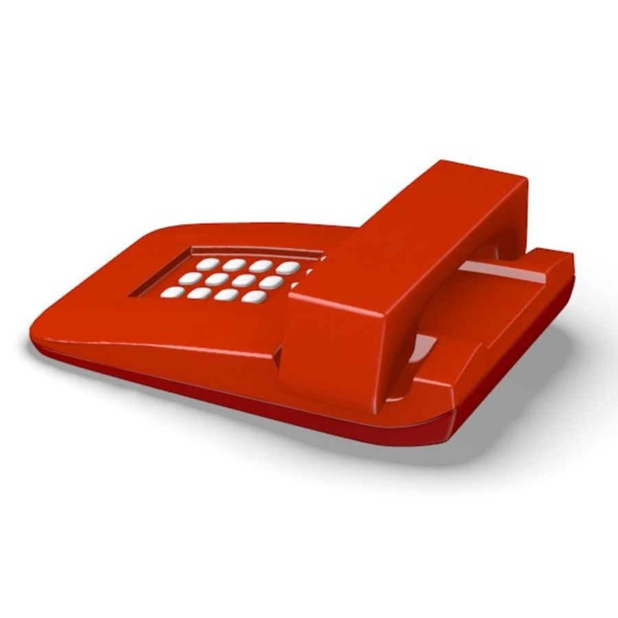 telephone royalty-free 3d model - Preview no. 3