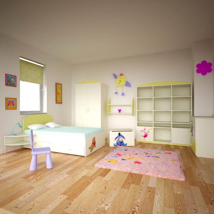 Mobília do quarto de Chilren royalty-free 3d model - Preview no. 7