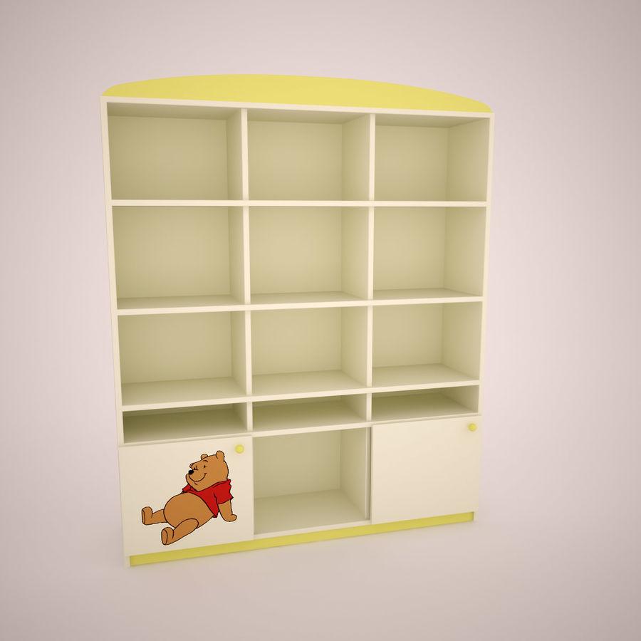 Mobília do quarto de Chilren royalty-free 3d model - Preview no. 3