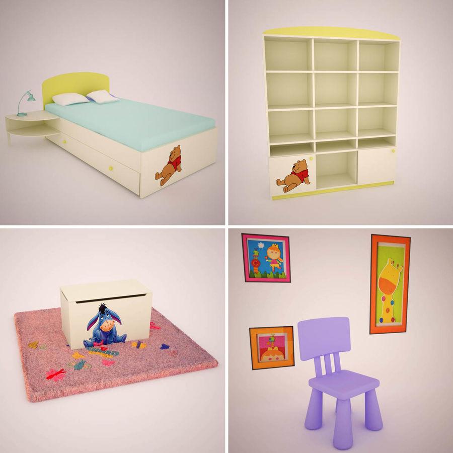 Mobília do quarto de Chilren royalty-free 3d model - Preview no. 1