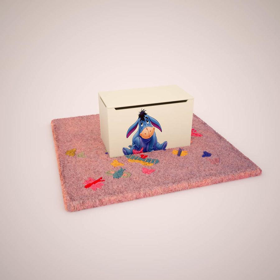 Mobília do quarto de Chilren royalty-free 3d model - Preview no. 4